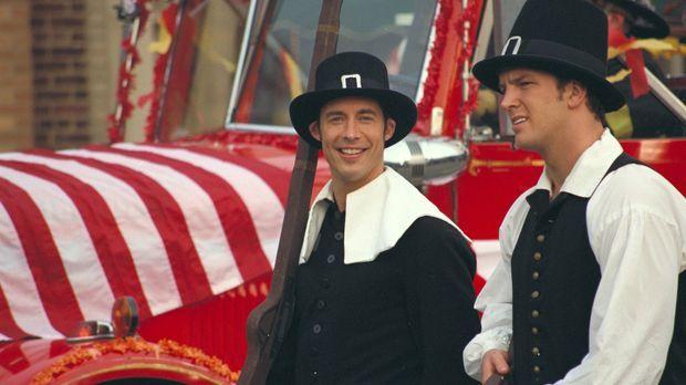Sind froh über die nun doch stattfindende Thanksgiving-Parade: Ed (Tom Cavana...