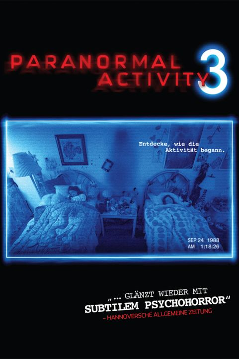 PARANORMAL ACTIVITY 3 - Plakatmotiv - Bildquelle: 2011 Paramount Pictures. All Rights Reserved.