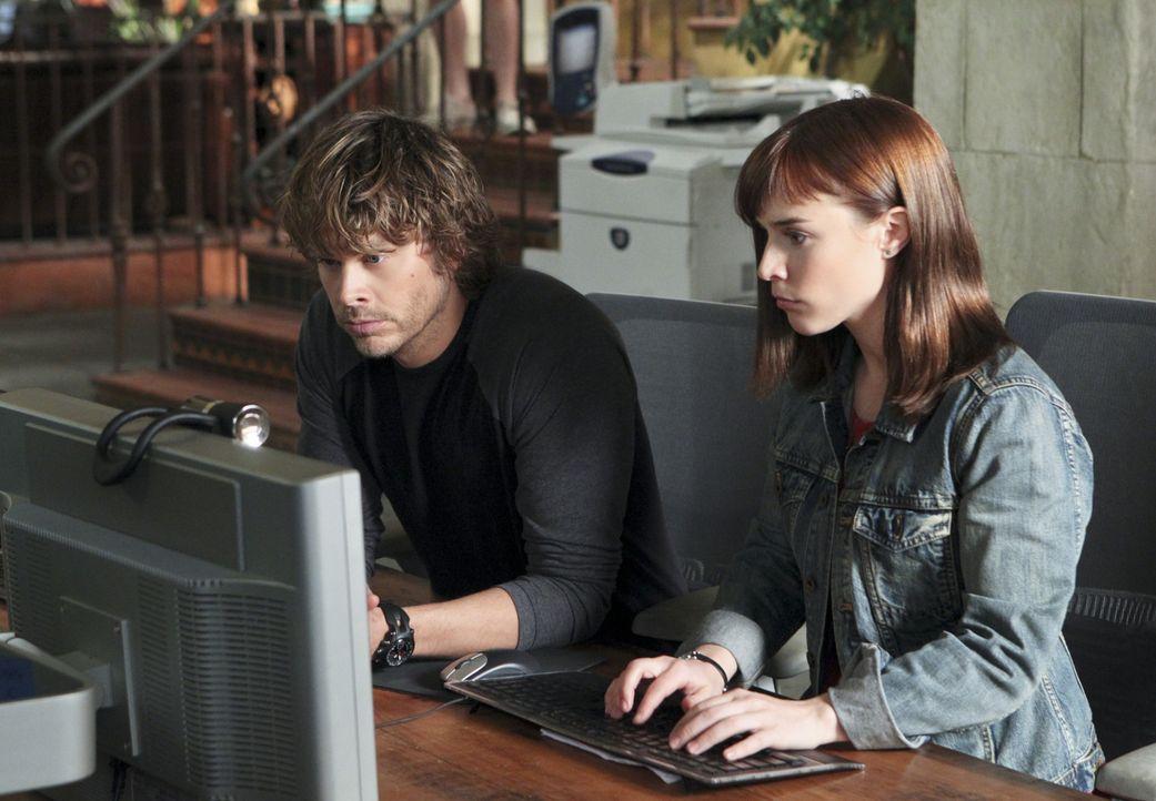 Zusammen arbeiten sie an einem komplexen Fall: Deeks (Eric Christian Olsen, l.) und Nell (Renée Felice Smith, r.) ... - Bildquelle: CBS Studios Inc. All Rights Reserved.