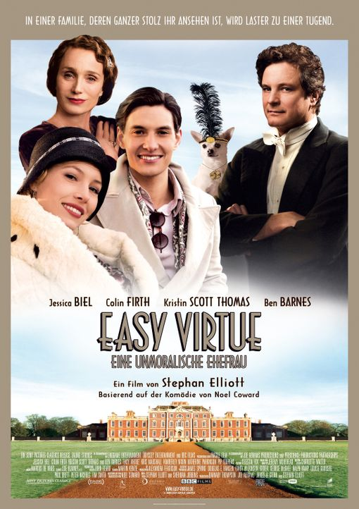 EASY VIRTUE - EINE UNMORALISCHE EHEFRAU - Plakat - Bildquelle: 2008 Easy Virtue Films Limited. All Rights Reserved.