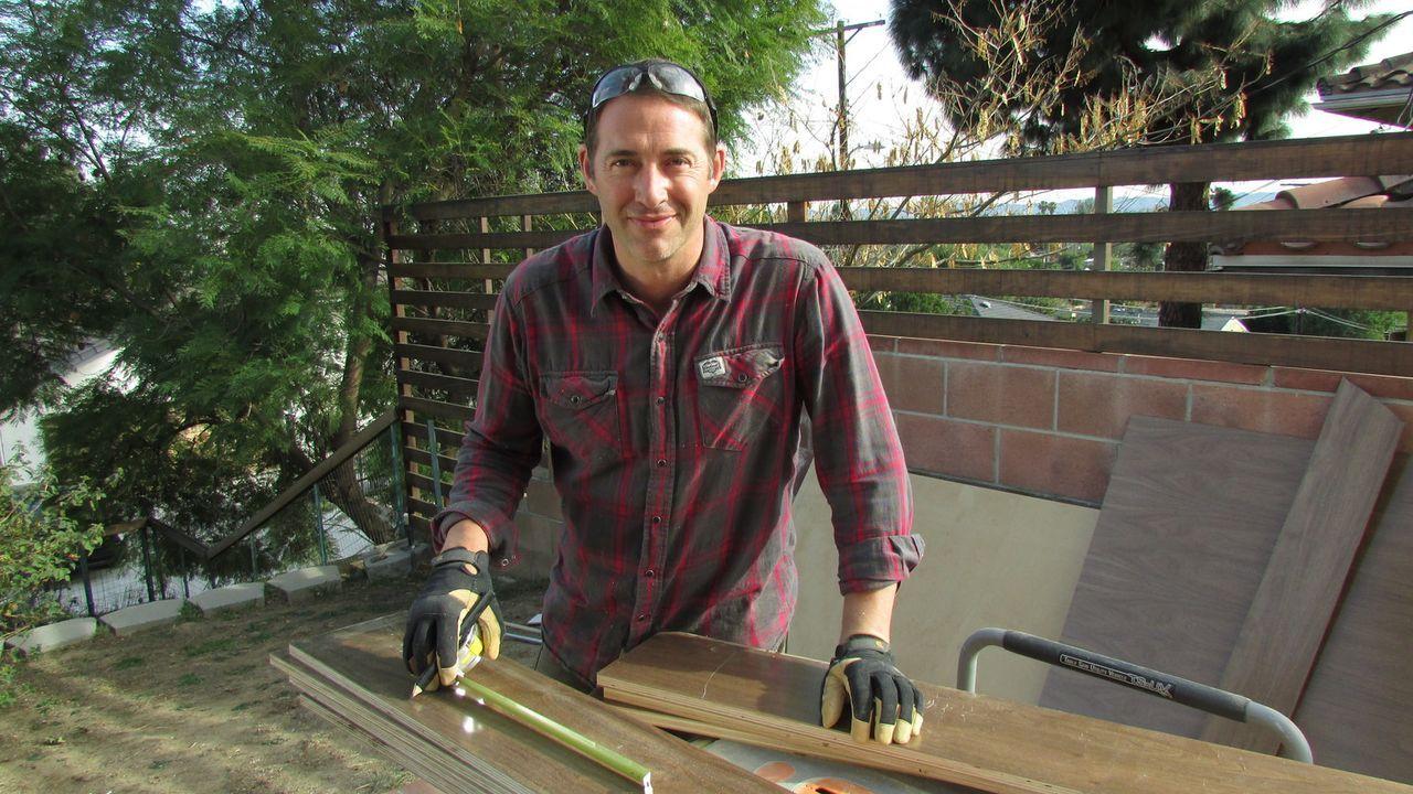 (10. Staffel) - Wer Josh Temples Hilfe annimmt, erhält innerhalb von 3 Tagen einen komplett neu gestalteten Raum. Allerdings muss ihm der Kunde blin... - Bildquelle: 2014, DIY Network/Scripps Networks, LLC. All RIghts Reserved.