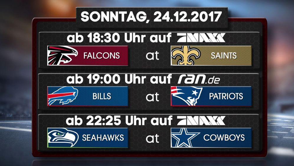 NFL Week 15: Diese Spiele zeigt #ranNFL