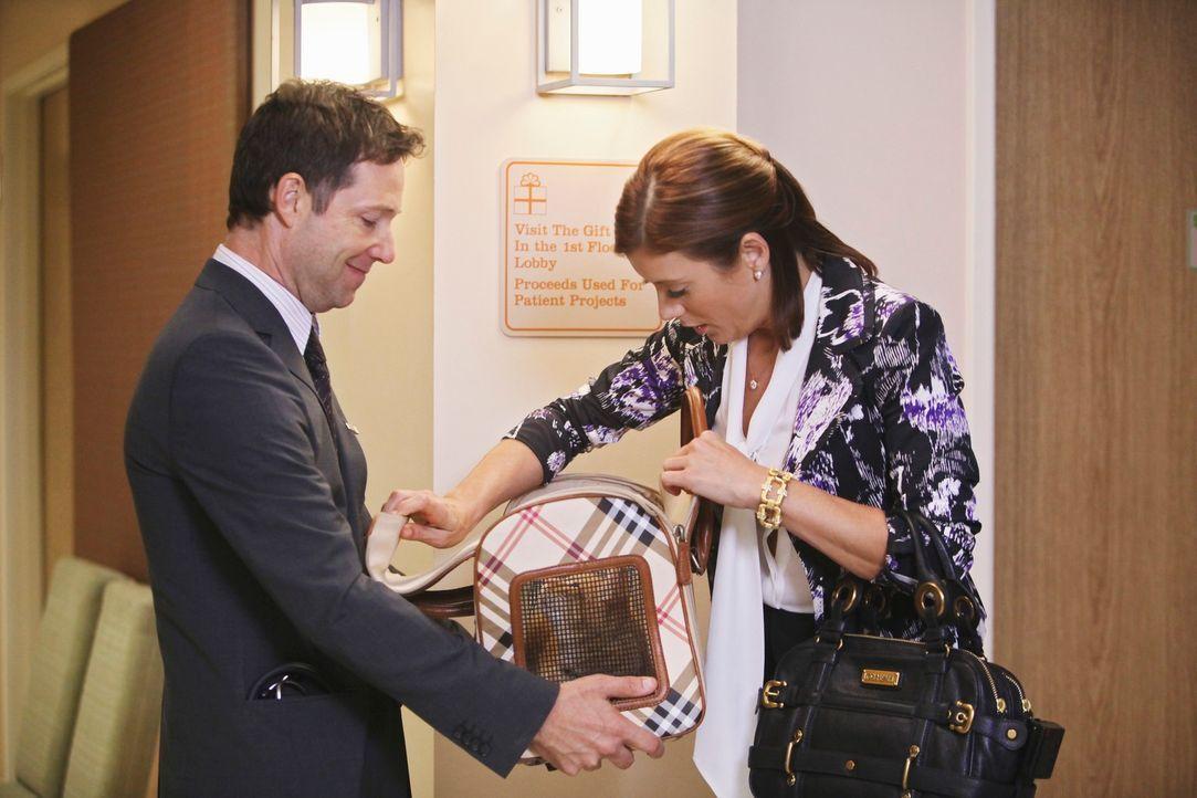 Addison (Kate Walsh, r.) will ihre Patientin im Hospiz besuchen und hat auch deren Katze mitgebracht. Bevor sie ins Patientenzimmer kommt, fragt sie... - Bildquelle: ABC Studios