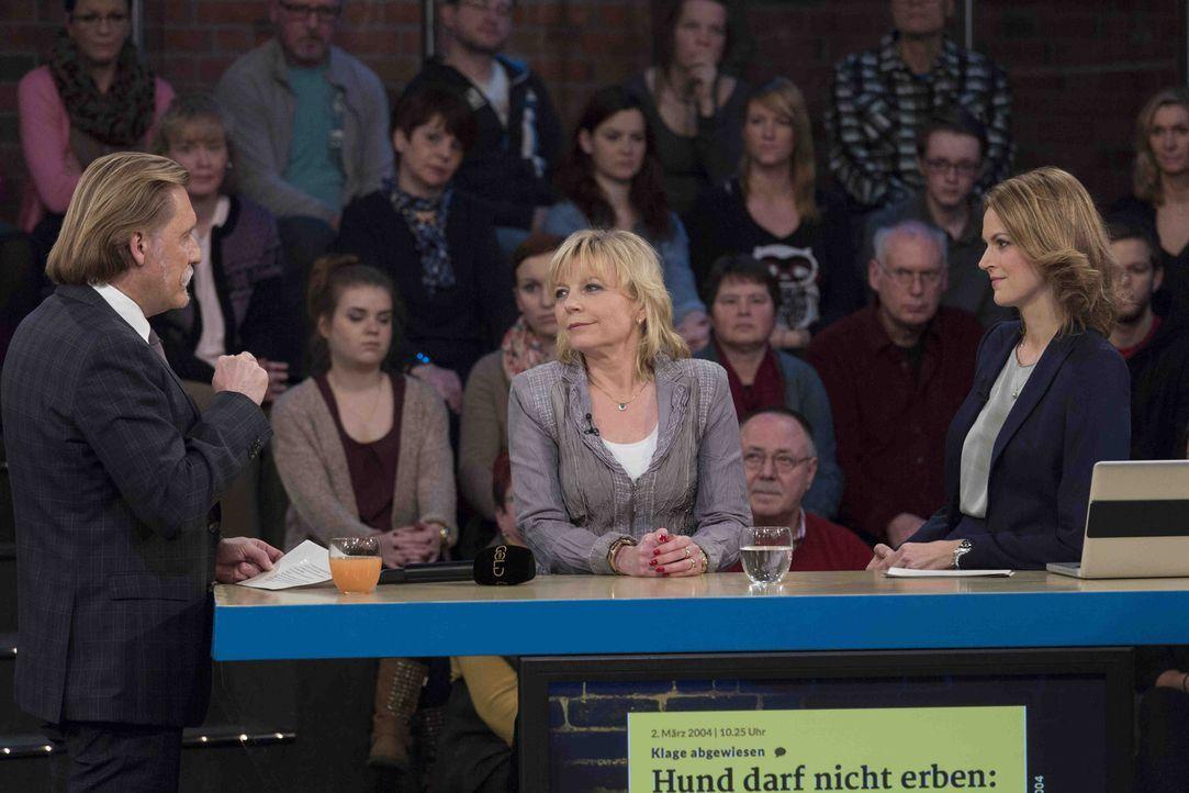 """In seiner Talkshow """"Ingo Lenßen: Ihr Urteil bitte!"""" widmet sich Anwalt Ingo Lenßen (l.) Rechtsthemen, die jeden einmal betreffen können. Mit Nicole... - Bildquelle: Georg Pauly SAT.1 Gold"""