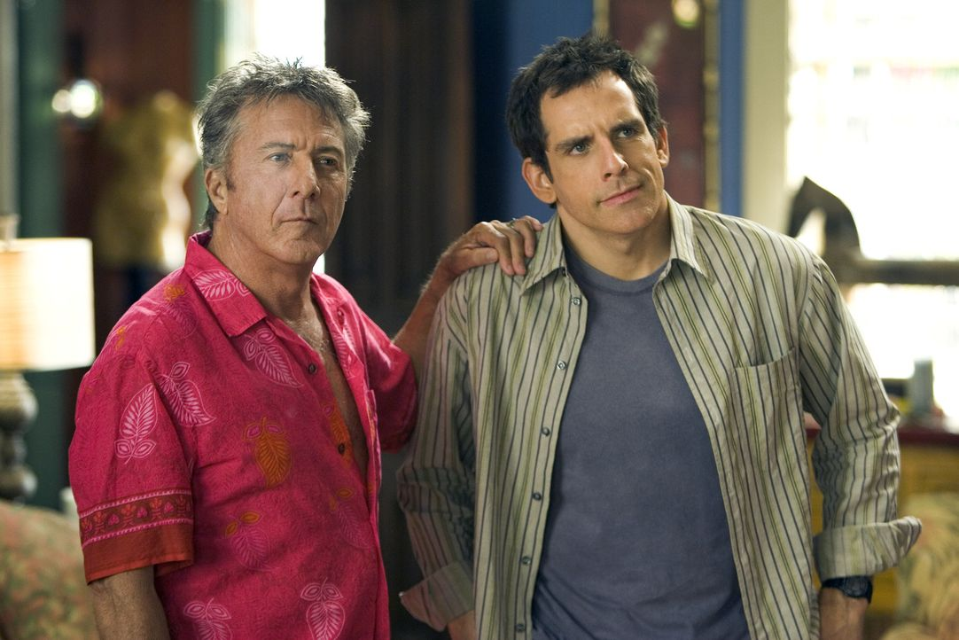 Bernie Focker (Dustin Hoffman, l.) ist stolz auf seinen Sohn Gaylord (Ben Stiller, r.), schließlich hat er einst für die Erziehung seines Sohnes d... - Bildquelle: DreamWorks SKG