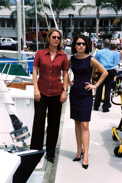 Krankheitserregern auf der Spur: Eva Rossi (Anna Belknap, r.) und Dr. Natalie Durant (Kelli Williams, l.) ... - Bildquelle: CBS Television