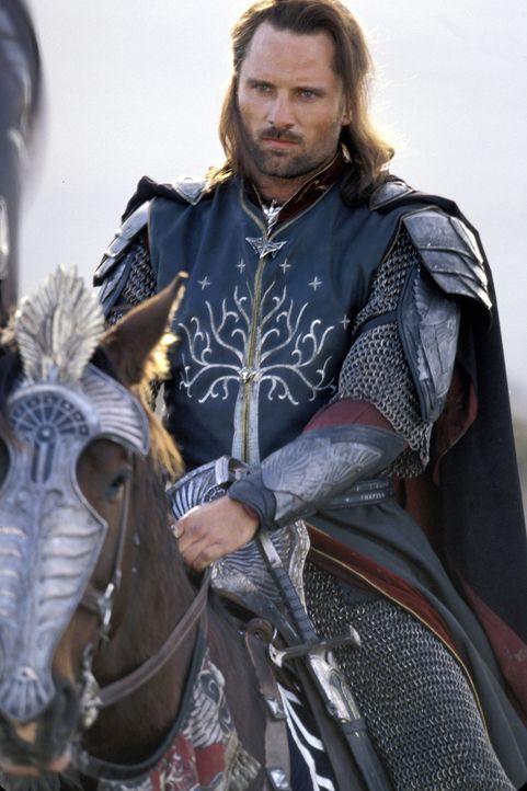 Aragorn (Viggo Mortensen) nimmt sein Schicksal auf sich und zieht mit seinen Männern in die Schlacht gegen Sauron ... - Bildquelle: Warner Bros.