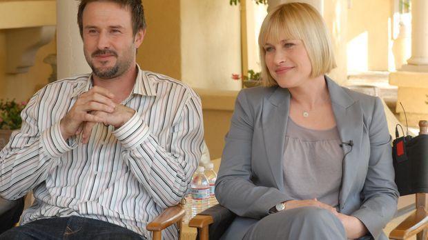 Patricia Arquette (r.) und ihr Bruder David (l.) bei den Dreharbeiten zu