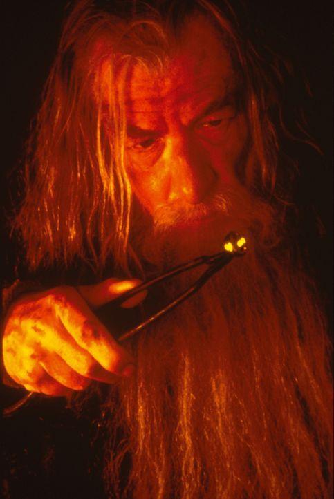 Gandalf (Ian McKellen) zieht einen Ring aus dem Feuer, der demjenigen, der ihn besitzt, große Macht verleiht ... - Bildquelle: Warner Brothers