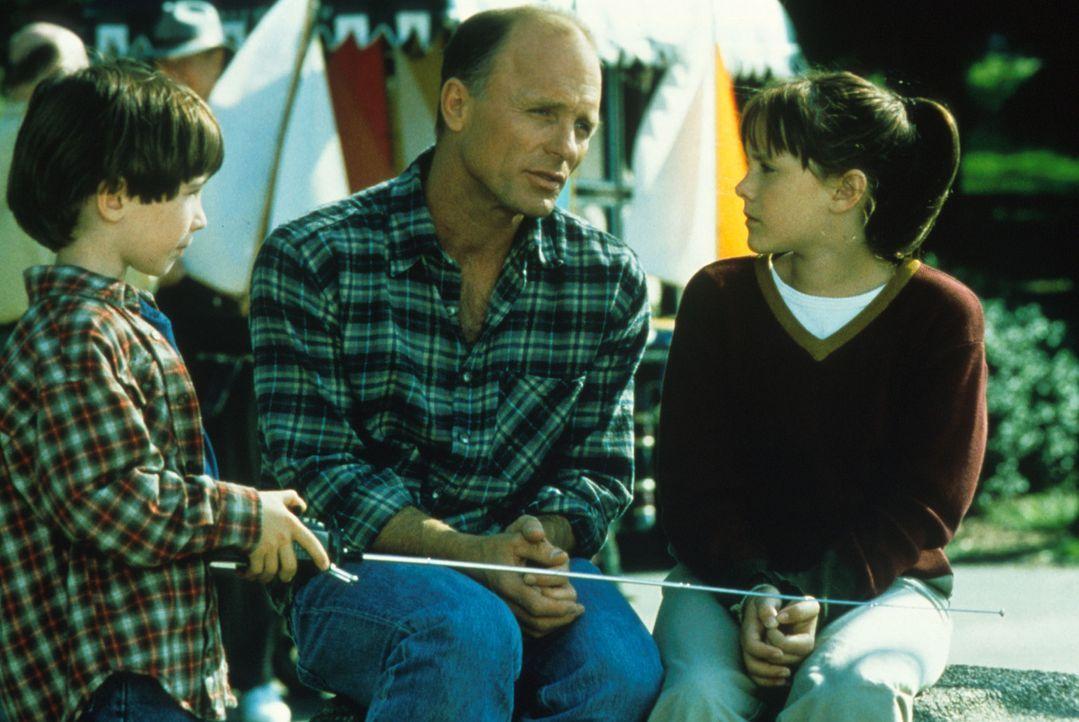 Trotz allen Problemen hat sich die Beziehung zwischen Luke (Ed Harris, M.) und seinen Kindern  Ben (Liam Aiken, l.) und Anna (Jena Malone, r.) nicht... - Bildquelle: Columbia Pictures