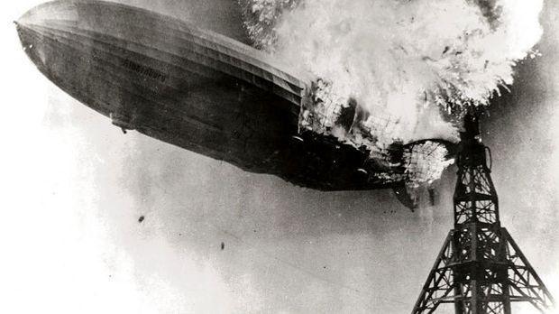 Bei der Hindenburg-Katastrophe 1937 kommen 36 Menschen ums Leben.