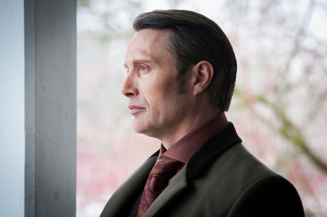 Dr. Hannibal Lecter (Mads Mikkelsen) seine wahre Identität noch verbergen? - Bildquelle: Brooke Palmer 2013 NBCUniversal Media, LLC