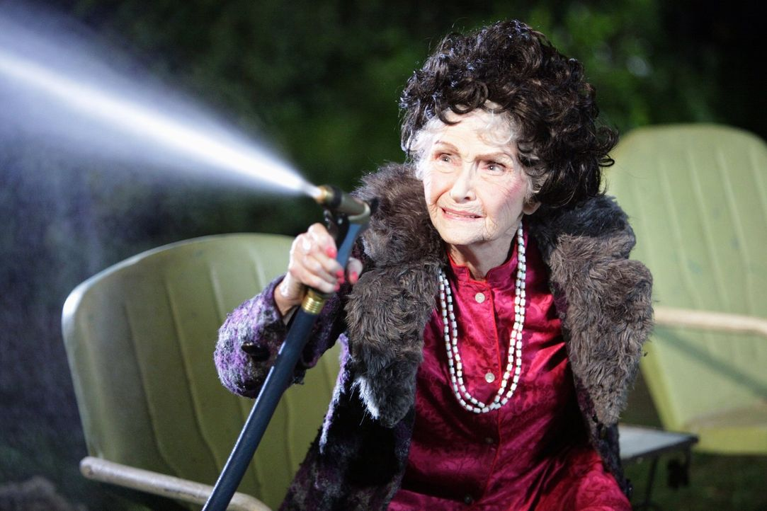 Die Jagd nach Tante Edies (Jeanette Miller) Zeitkapsel treibt Axl und Sue durch die ganze Stadt. Ob sich die Suche wirklich lohnt? - Bildquelle: Warner Brothers