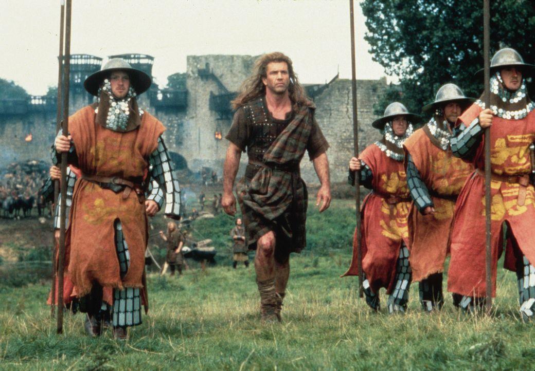 """Er ist der Mutigste unter den mutigen Männern eines stolzen Volkes: William Wallace (Mel Gibson, M.) wird zu Recht """"Braveheart"""" genannt ... - Bildquelle: Paramount Pictures"""