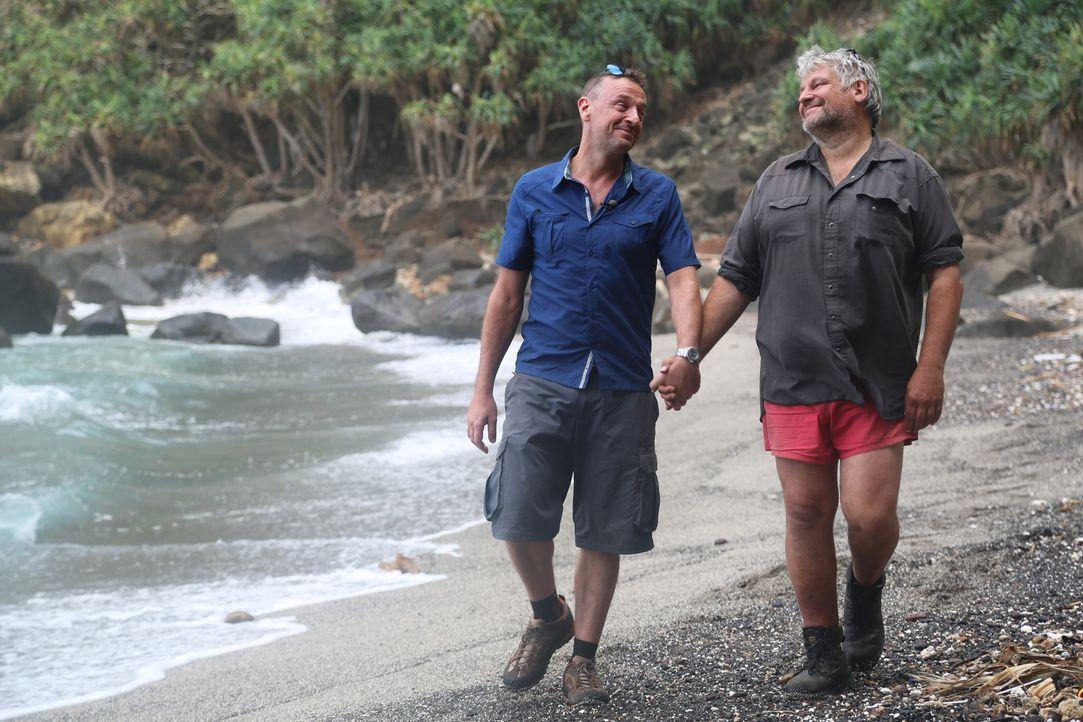 In seinem neuen Abenteuer reist Tom Waes auf die pazifische Insel Pitcairn. Ihre 50 Einwohner werden alle drei Monate von einem Containerboot mit le... - Bildquelle: 2013 deMENSEN