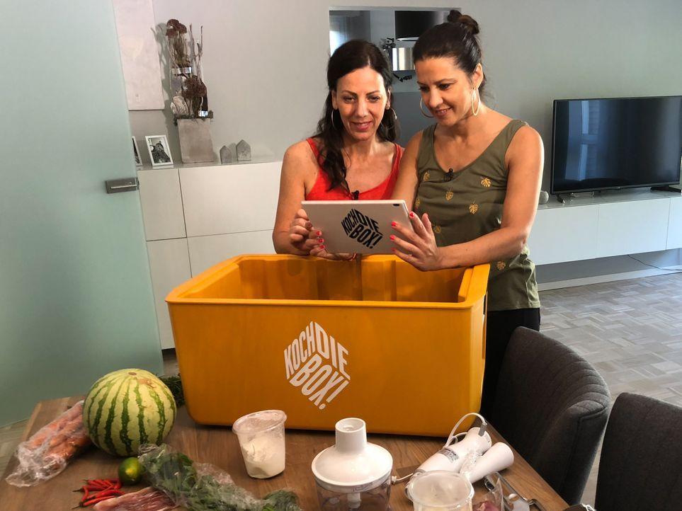 Auf die besten Freundinnen Katja und Kati warten einige Koch-Herausforderungen ... - Bildquelle: kabel eins