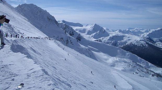 Skifahren-Gletscher