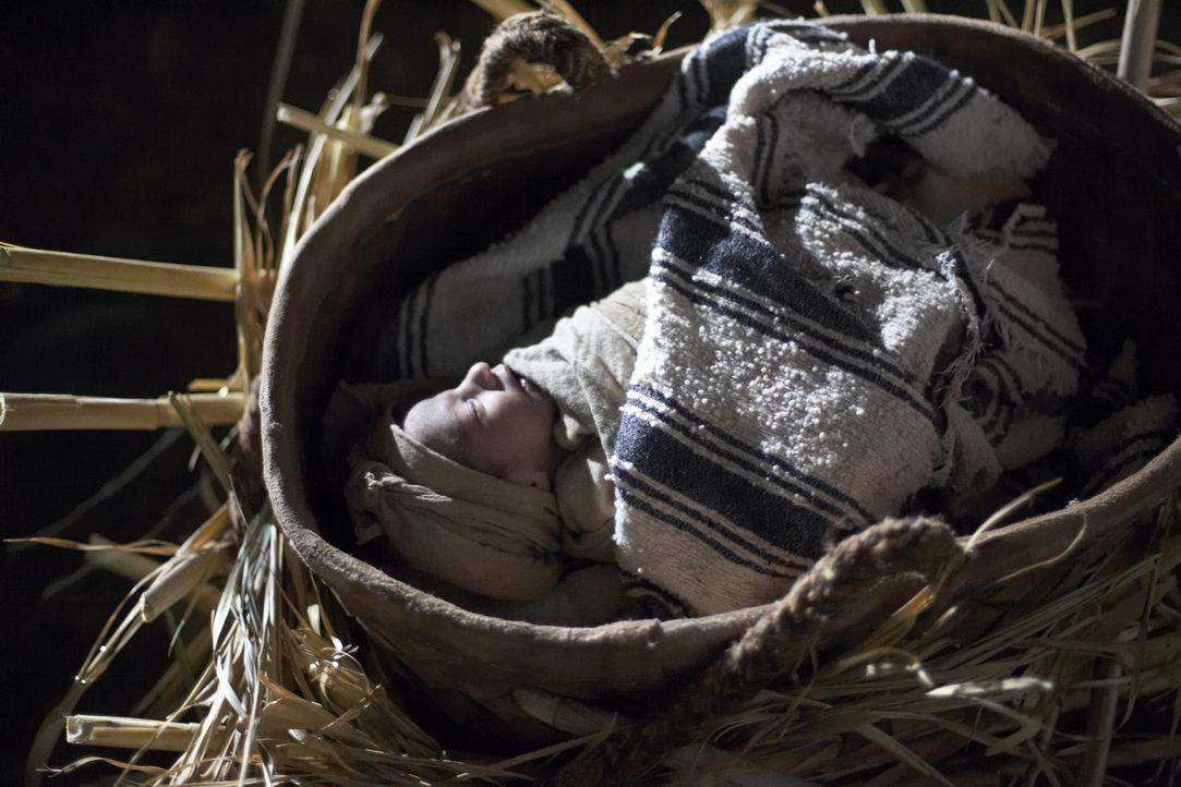 Um ihren Säugling vor dem Tod zu retten, vertrauen Amram und Jochebed ihn den Wassern des Nils an ... - Bildquelle: Hallmark Entertainment