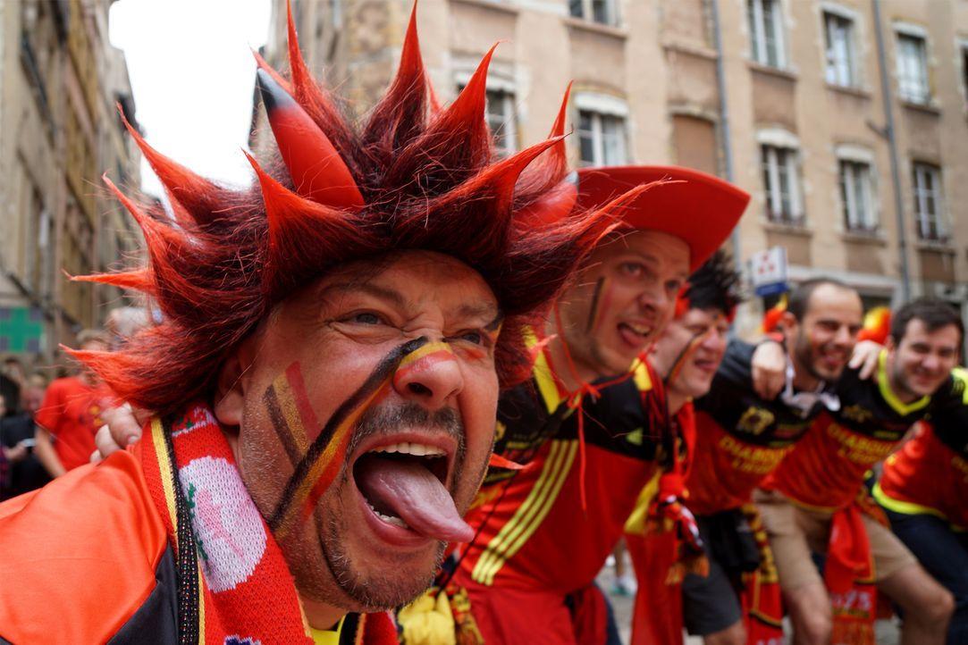 Belg_Fan_Tongue_VINCENZO PINTO_AFP - Bildquelle: AFP / VINCENZO PINTO