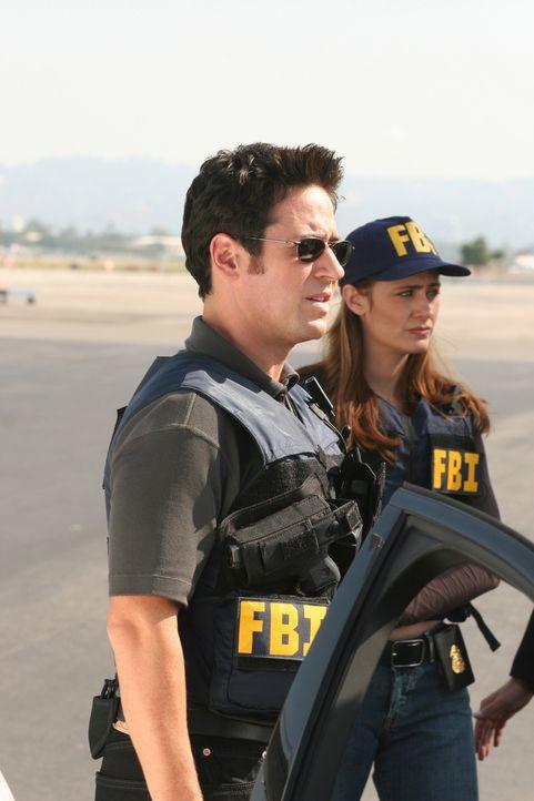 Zusammen mit Charlie versuchen Don (Rob Morrow, l.) und Megan (Diane Farr, r.), den Mörder von Lucinda Shay, der Finanzchefin von Syntel Corporation... - Bildquelle: Paramount Network Television