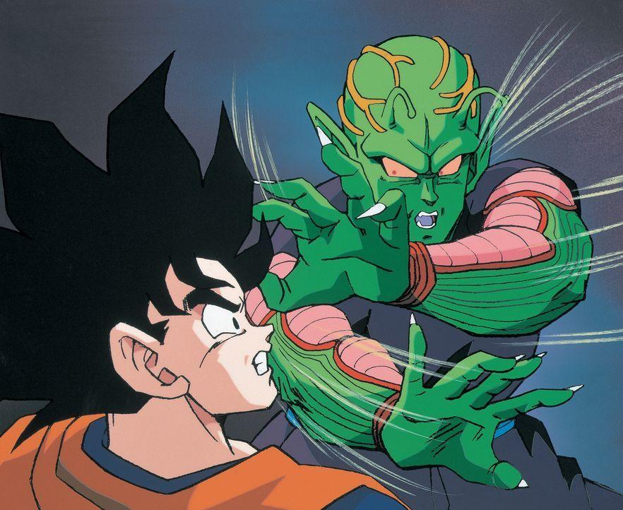 (v.l.n.r.) Son Goku; Piccolo - Bildquelle: 1990 TOEI ANIMATION CO., LTD.