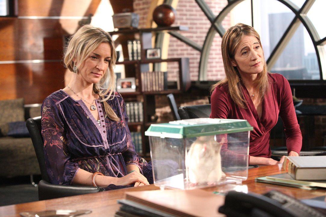 Shannon (Anne Ramsay, r.) und Ramona (Ever Carradine, l.) behaupten, die Ratte sei ihr wiedergeborener Liebhaber beziehungsweise Ehemann ... - Bildquelle: 2012 Sony Pictures Television Inc. All Rights Reserved.