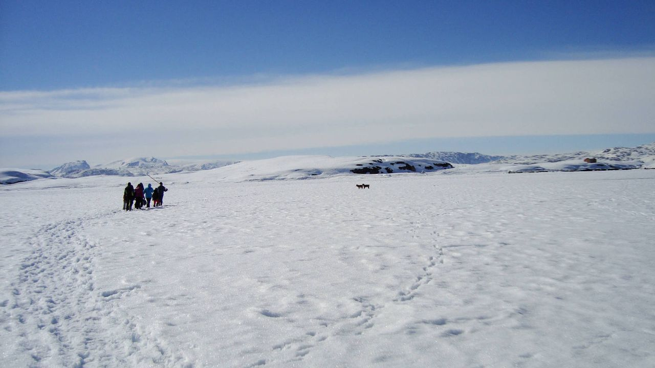 Auf Grönland ticken die Uhren anders: Die Insel ist dünn besiedelt, Vergnügungen gibt es kaum, und der Speiseplan ist auf Robben, Wale und Eisbären... - Bildquelle: SAT.1