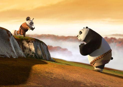 Kung Fu Panda - Meister Shifu (l.) versucht dem dicken Pandabären Po (r.) die...