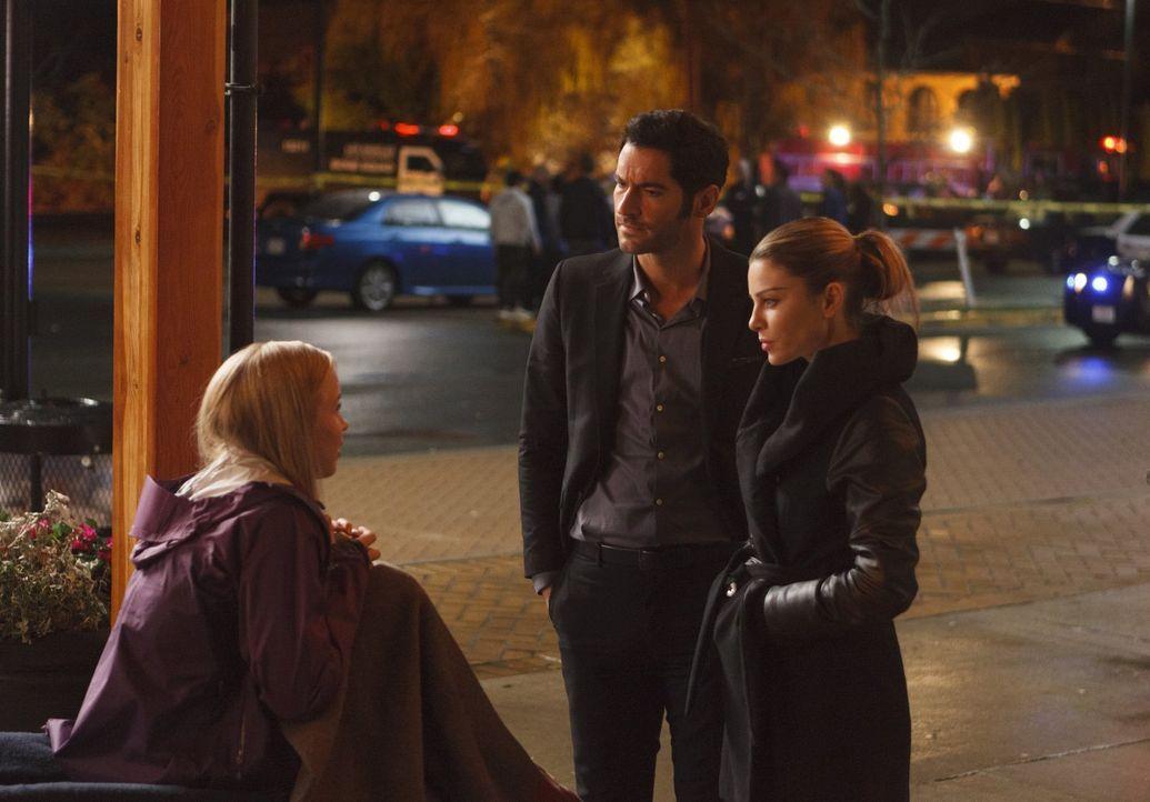 Hat Debra Macall (Sofia Vassilieva, l.) wirklich eine junge Schauspielerin umgebracht, nur weil sie mit ihrem Ex-Freund herumgemacht hat? Lucifer (T... - Bildquelle: 2016 Warner Brothers