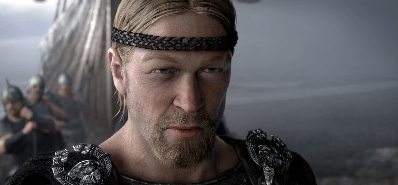 Vor Jahrhunderten, als die Helden der Legenden noch lebten, zieht der junge Recke Beowulf (Ray Winstone) vom Volk der Geatas in den Krieg gegen ein... - Bildquelle: 2007 Warner Brothers International Television Distribution Inc.