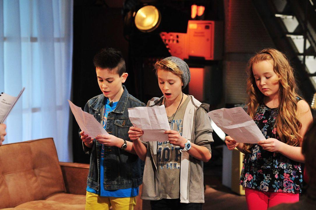 The-Voice-Kids-Stf02-Epi07-Vanessa-Joel-Leif-10-SAT1-Andre-Kowalski - Bildquelle: SAT.1/Andre Kowalski
