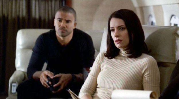 Das BAU-Team mit  Special Agent Derek Morgan (Shemar Moore, l.) und Emily Pre...