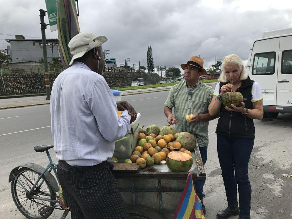 Carmen (r.) und Reiseführer Marco (M.) bestaunen gemeinsam die Vielseitigkeit Ecuadors ... - Bildquelle: kabel eins