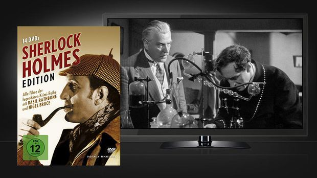 Sherlock Holmes Edition - Szenenbild und Blu-ray Cover