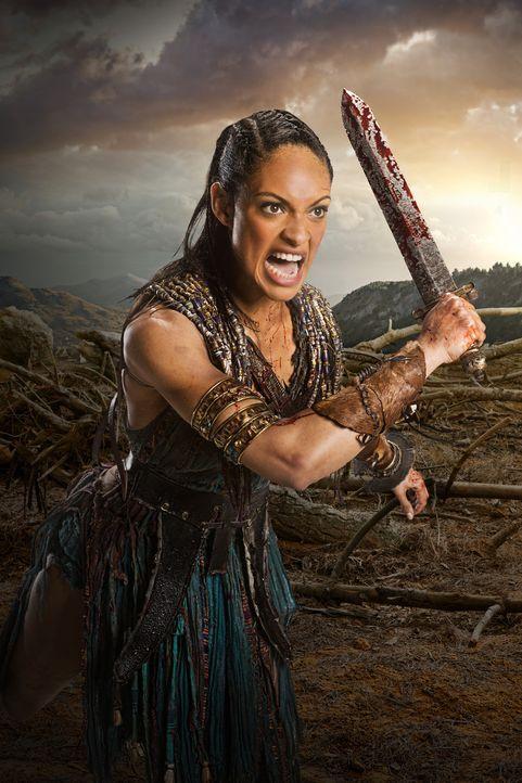 Kämpft bis zum letzten Atemzug: Naevia (Cynthia Addai-Robinson) ... - Bildquelle: 2012 Starz Entertainment, LLC. All rights reserved.