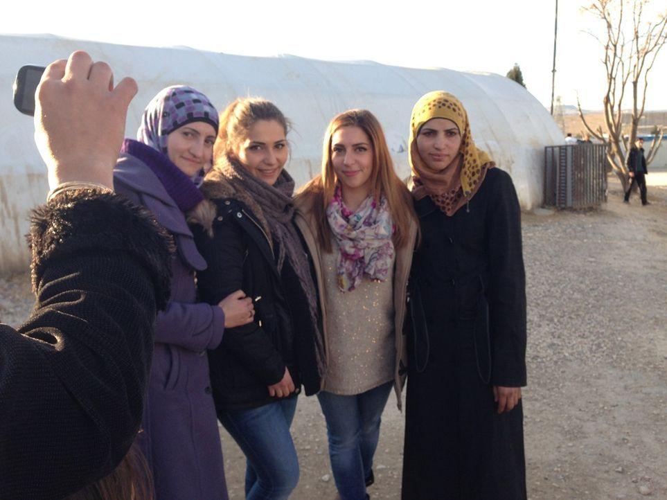 Ein Einnerungsfoto mit Fatmehs Freundinnen