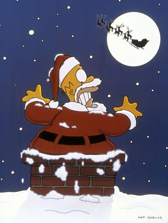 Homer (Bild) hat sich als Weihnachtsmann verkleidet, um Lisa zu helfen ... - Bildquelle: und TM Twenthieth Century Fox Film Corporation - Alle Rechte vorbehalten
