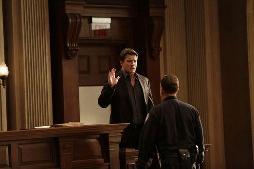 Castle - Für Castle (Nathan Fillion) ist nun endlich sein Tag vor Gericht gek...
