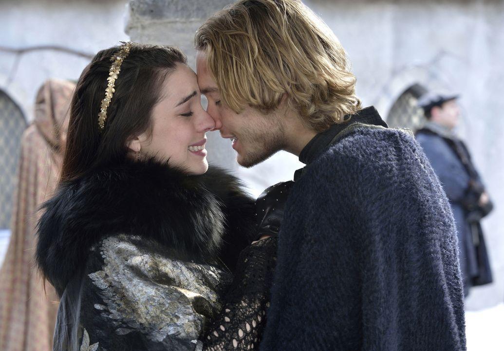 Endlich sind Königin Mary von Schottland (Adelaide Kane, l.) und Prinz Francis, der Thronfolger von Frankreich (Toby Regbo, r.), wieder glücklich ve... - Bildquelle: 2013 The CW Network, LLC. All rights reserved.