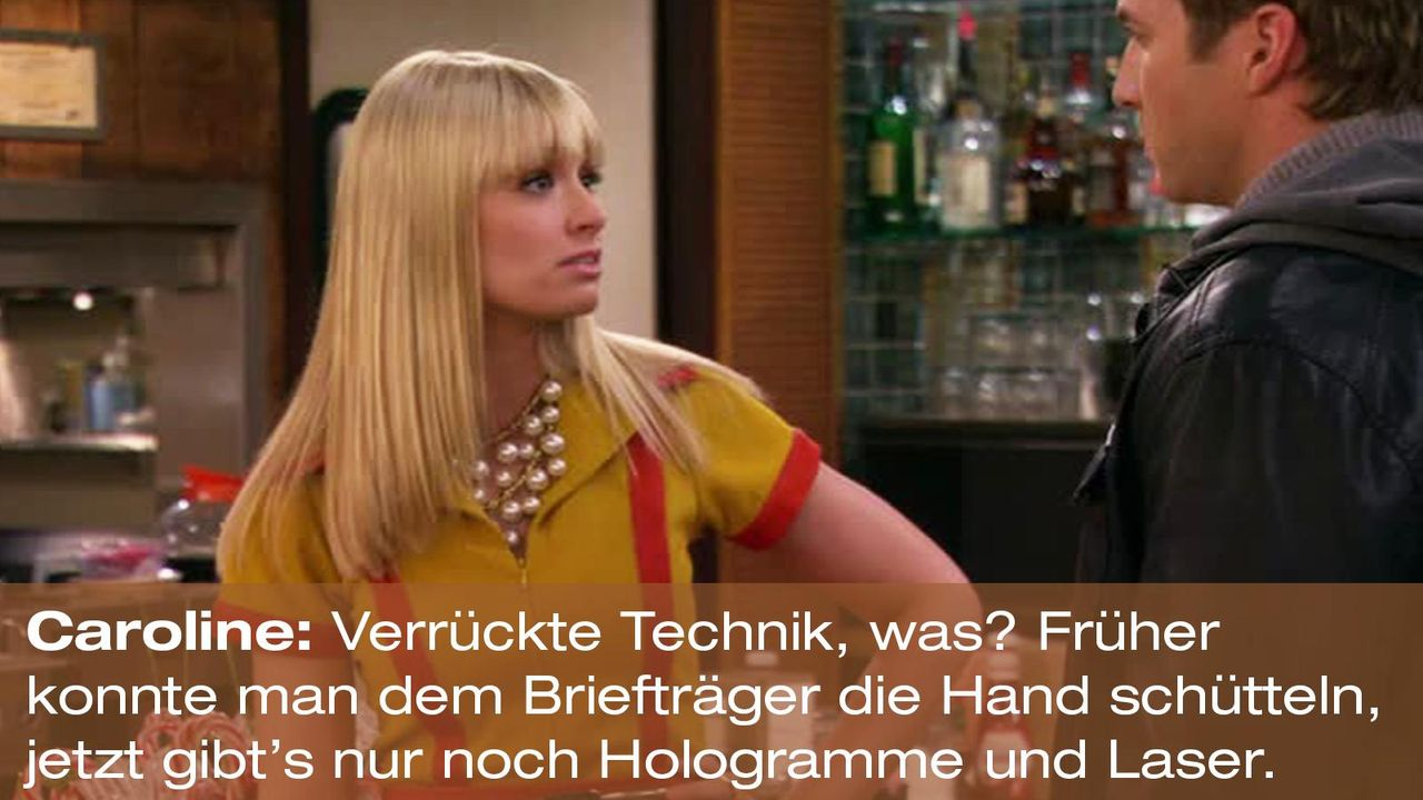 2-broke-girls-zitat-quote-staffel2-episode12-breite-weihnachten-caroline-technik-warnerpng 1600 x 900 - Bildquelle: Warner Bros. International Television