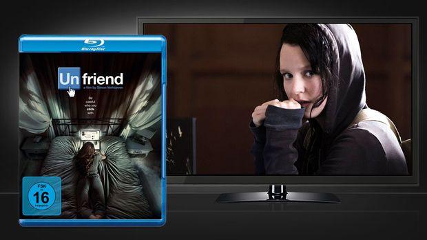 Unfriend - Blu-ray Cover und Szenenbild © Warner Home Video