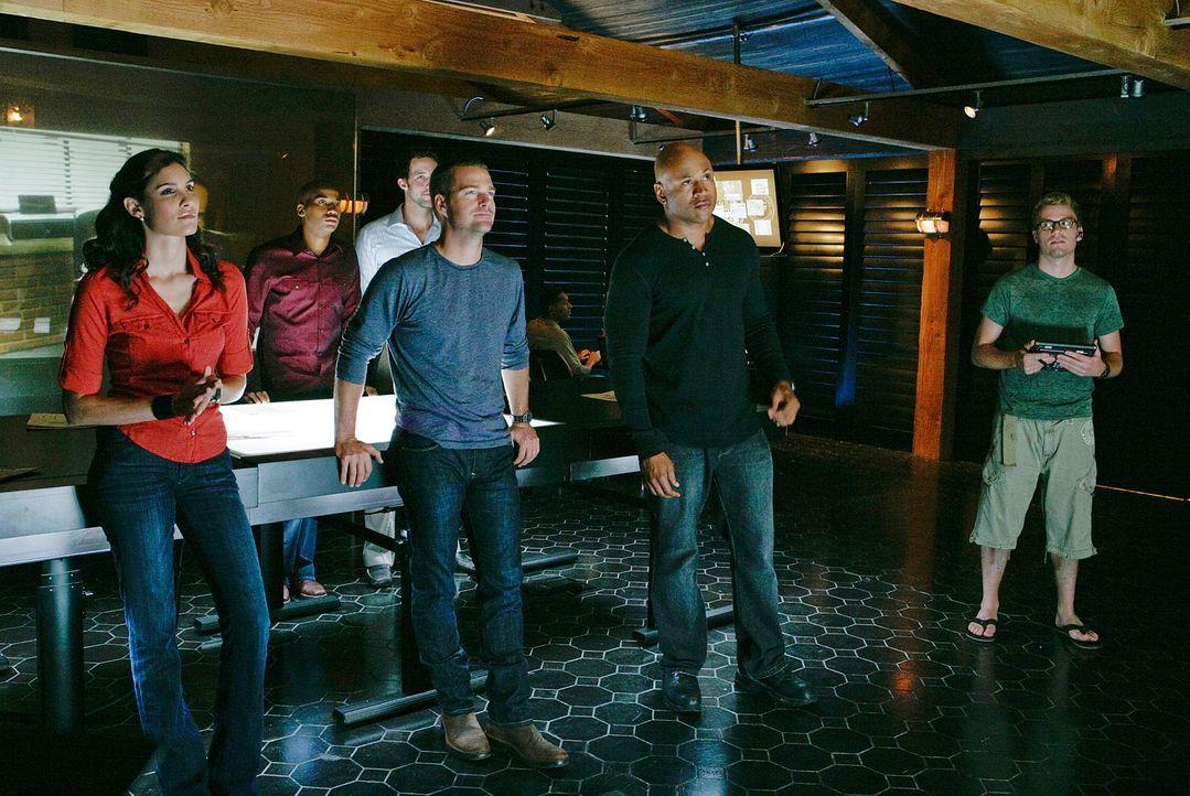 Werden mit ihrem neuen Fall vertraut gemacht: Special Agent Kensi Blye (Daniella Ruah, l.), Dominic Vail (Adam Jamal Craig, 2.v.l.), Psychologe Nate... - Bildquelle: CBS Studios Inc. All Rights Reserved.