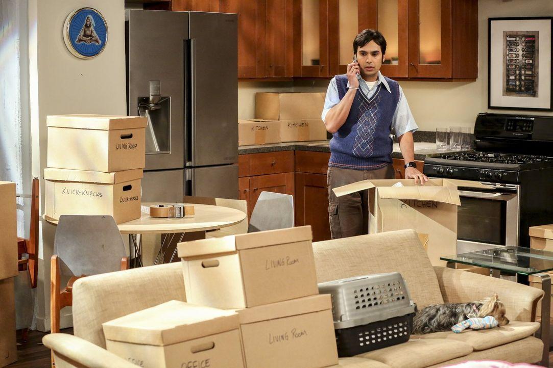 Auf Grund seiner kritischen finanziellen Lage, muss sich Raj (Kunal Nayyar) eine neue Bleibe suchen. Aber welcher seiner Freunde würde mit ihm zusam... - Bildquelle: 2016 Warner Brothers