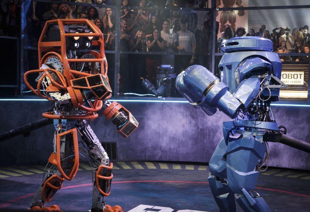 Welches Team wird gewinnen: In der Robot Combat League messen sich die Könige der mechanischen Kampf-Kunst ...