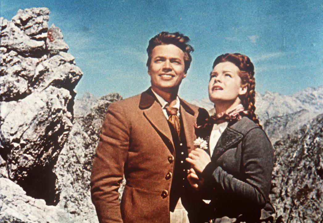 Das Glück des liebenden Paares Kaiser Franz-Joseph (Karlheinz Böhm, r.) und seiner Frau, der hübschen Sissi (Romy Schneider, l.), könnte vollkom... - Bildquelle: Herzog-Filmverleih