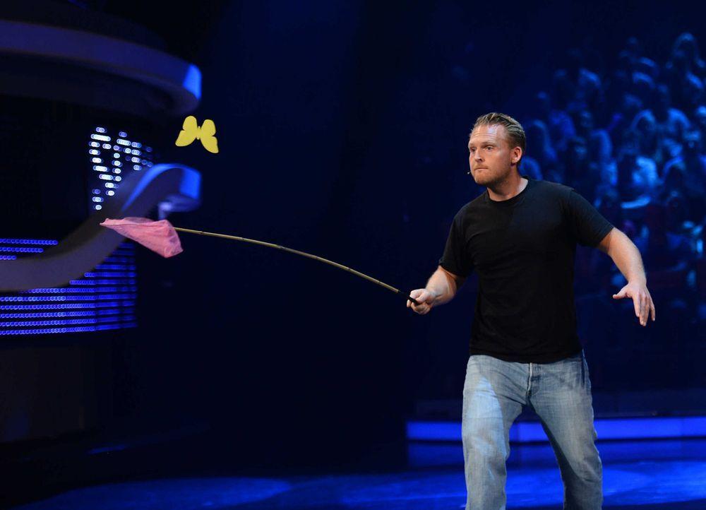 Kämpft, damit er als Sieger aus der Show geht: Axel Stein ... - Bildquelle: Willi Weber ProSieben