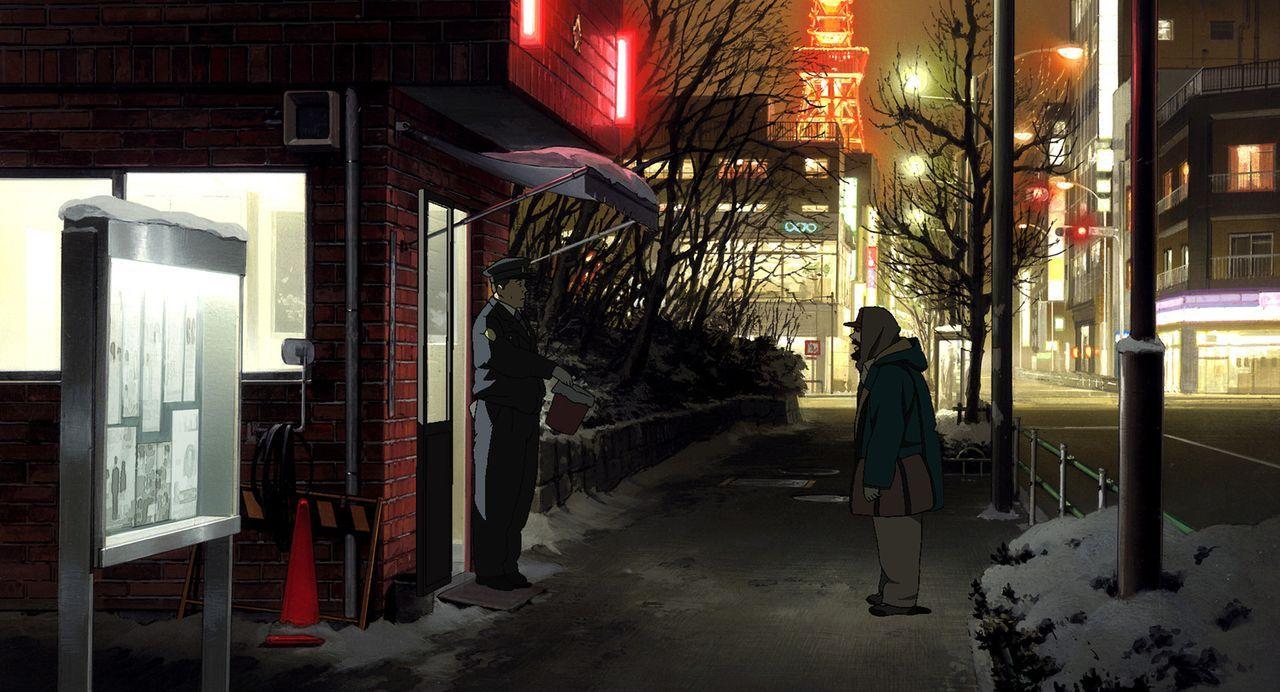 Die Suche nach der Mutter des Findelkindes führt Gin (r.) in seine Vergangenheit. Einst verließ er seine Frau und die kleine Tochter ... - Bildquelle: 2003 Satoshi Kon, Mad House and Tokyo Godfathers Committee. All Rights Reserved.