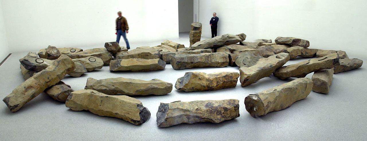 Basaltblöcke - Joseph Beuys - Bildquelle:  dpa/lby