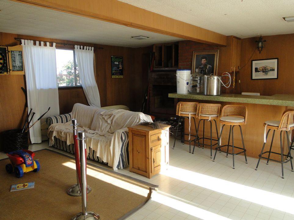 Diese verrufene Bar soll innerhalb von drei Tagen zu einer luxuriösen Lounge-Bar werden. Die hässliche Holzterrasse, die Avocado-grünen Arbeitsplatt... - Bildquelle: 2009, DIY Network/Scripps Networks, LLC