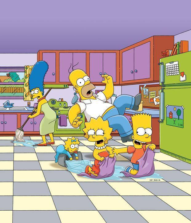 (28. Staffel) - Eine ganz besondere Familie: Maggie (2.v.l.), Marge (l.), Homer (M.), Bart (r.) und Lisa Simpson (2.v.r.) ... - Bildquelle: 2016 - 2017 Fox and its related entities.  All rights reserved.